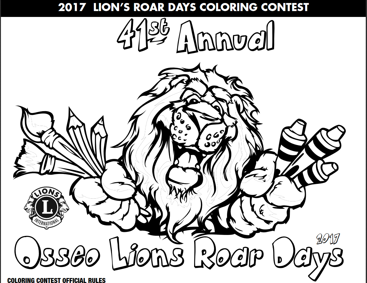 Lions Roar Coloring Contest Image