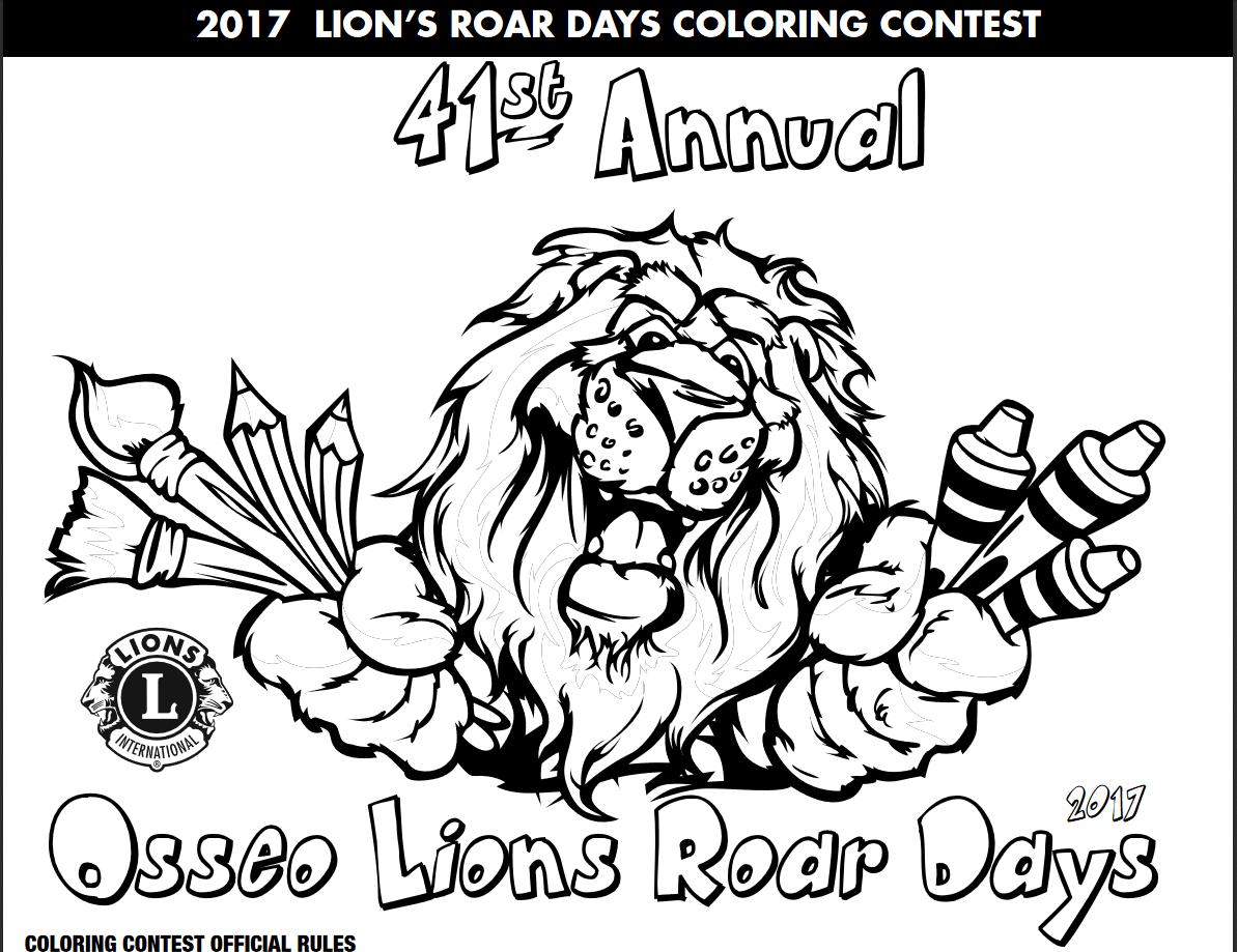 Lions Roar Coloring Contest Image