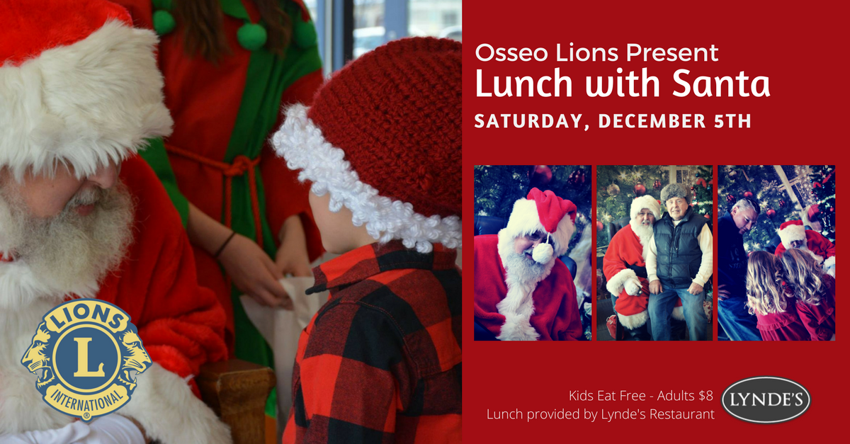 Osseo Lions- 2017 Lunch wSanta