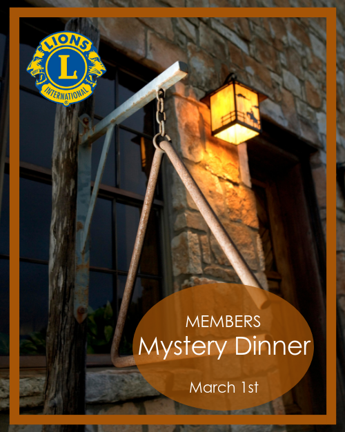 Lions Mystery Dinner