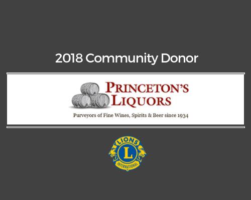 Lions 2018 Donor - Princeton's Liquors