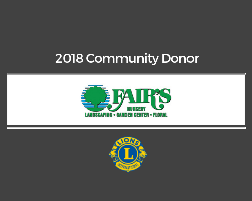 Lions 2018 Donor - Fair's Nursery