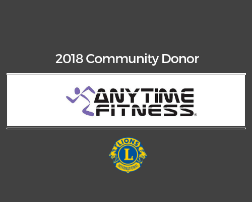 Lions 2018 Donor - Anytime Fitness