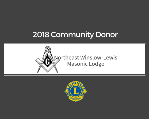 Lions 2018 Donor - Northwest Winslow-Lewis Masonic Lodge