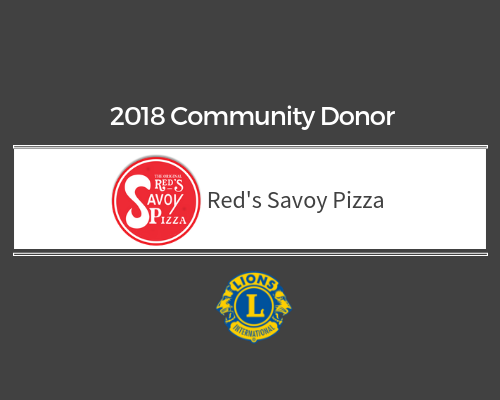 Lions 2018 Donor - Red's Savoy Pizza