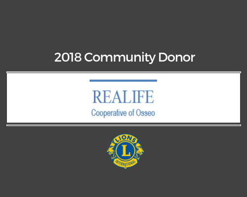 Lions 2018 Donor - Realife Cooperative of Osseo