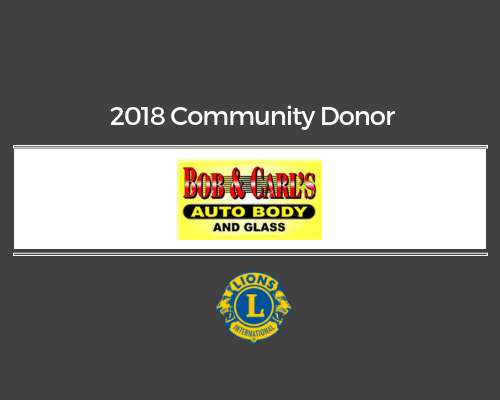 Lions 2018 Donor - Bob & Carl's Auto Body