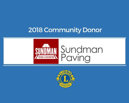 Lions 2018 Donor - Sundman Paving