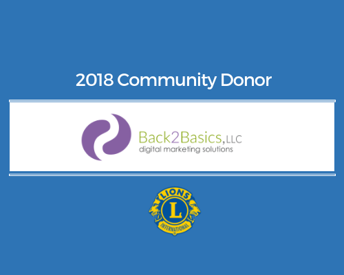 Lions 2018 Donor - Back2Basics