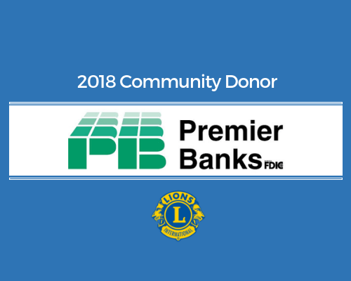 Lions 2018 Donor - Premier Banks