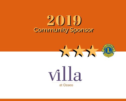 Lions 2019 Sponsor - Villa at Osseo