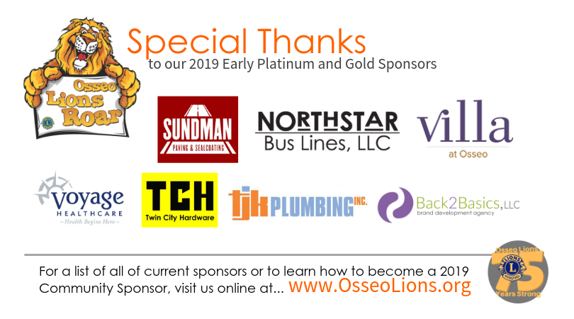 Early ROAR Platinum & Gold Sponsors 2019