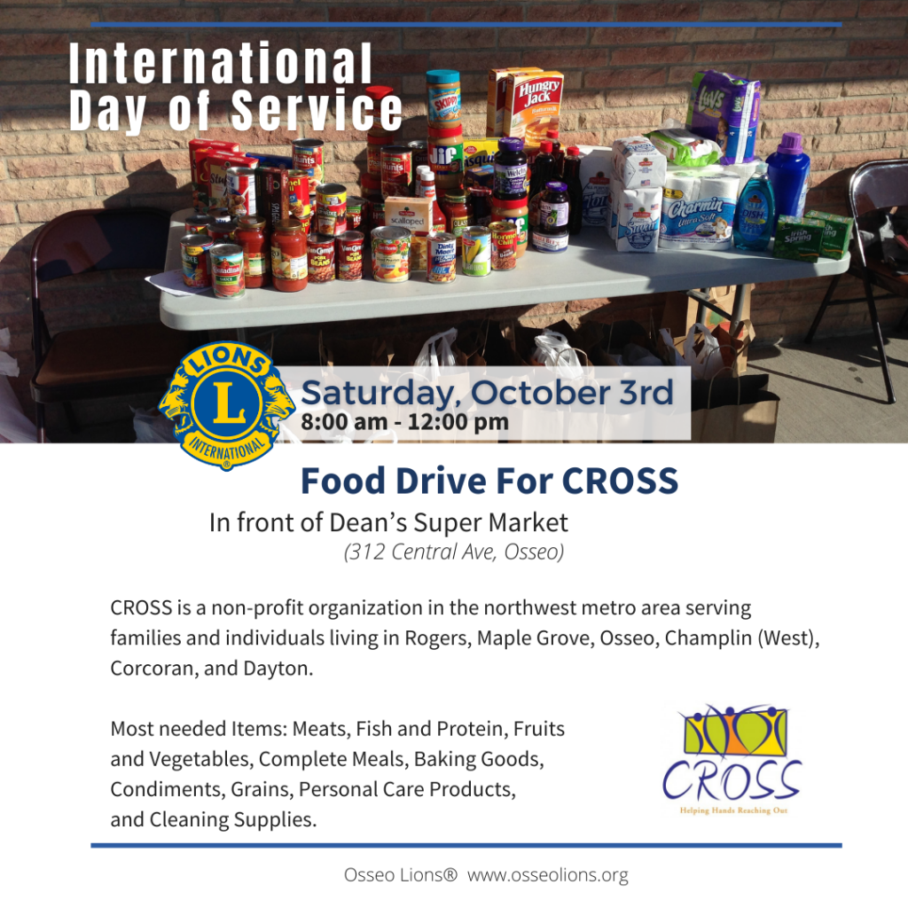 International Day of Service - Food Collection