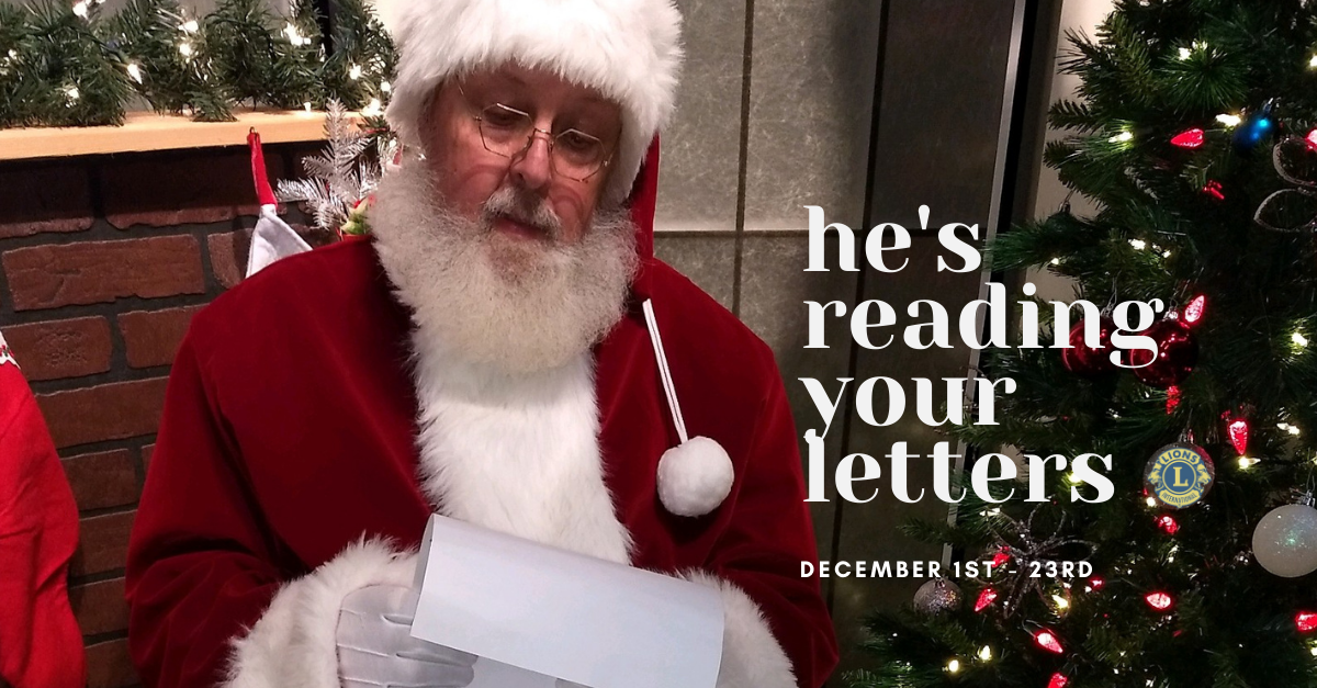 Santa Claus is Reading Your Letter - Osseo Lions 2020