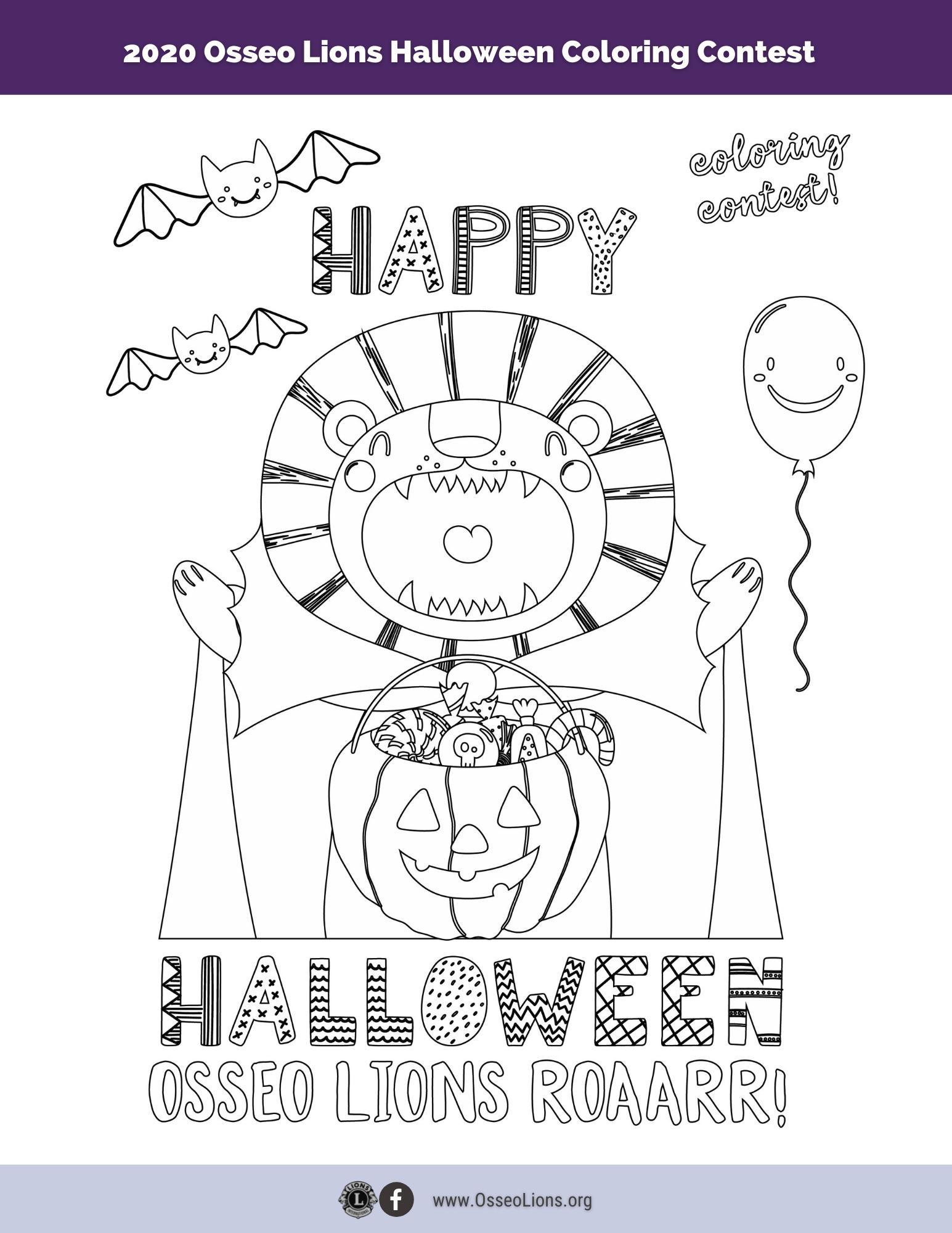 Happy Halloween Color Sheet Image